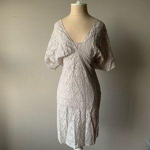Zara Light Gray Lace Dress